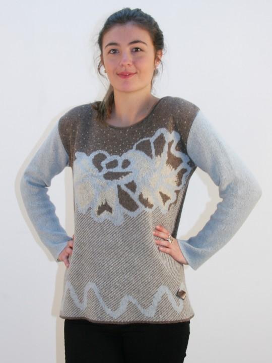 Pull femme en laine recyclée